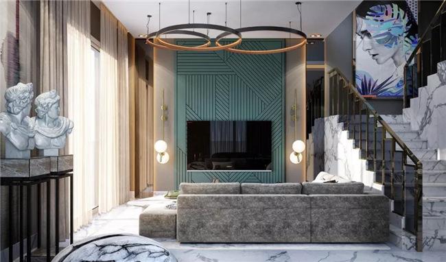 轻奢时尚潮流住宅少不了天然大理石装饰设计!今日给大伙儿看一下这款设计方案!