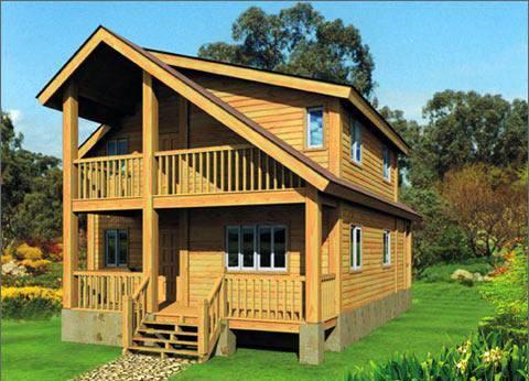 防腐木木屋的优点你知道什么呢?