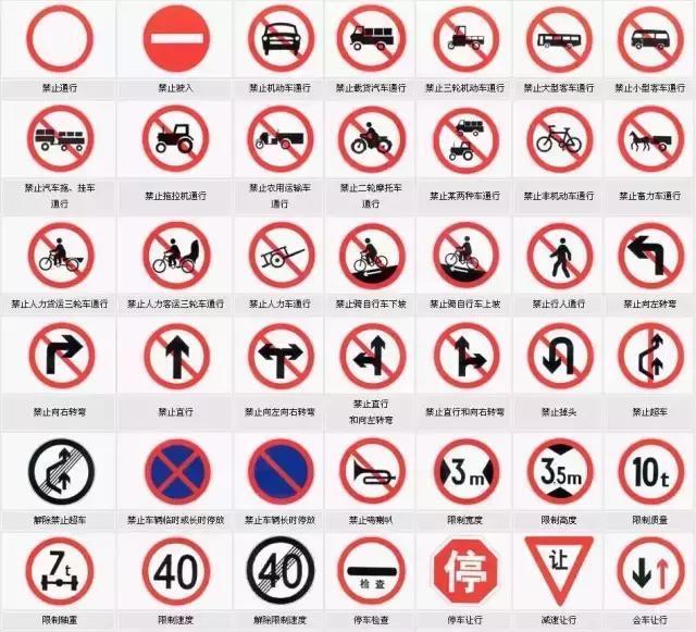 在高速公路和一般道路上所设置的交通标牌都包含什么?